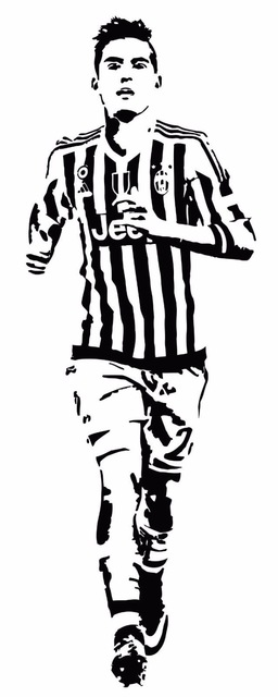 Free Shipping Diy Wallpaper Football Palyer Star Dybala