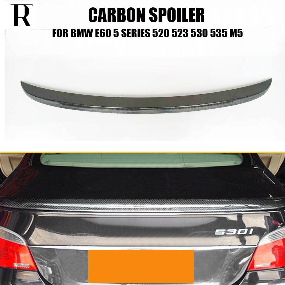 M5 Style E60 Carbon Fiber Rear Wing Spoiler for BMW E60 520i 523i 530i 535i 520d 525d 530d 535d M5 2004 - 2006 air suspension spring bag for bmw e61 525 520d 525d 530d 535d rear l r 02 10