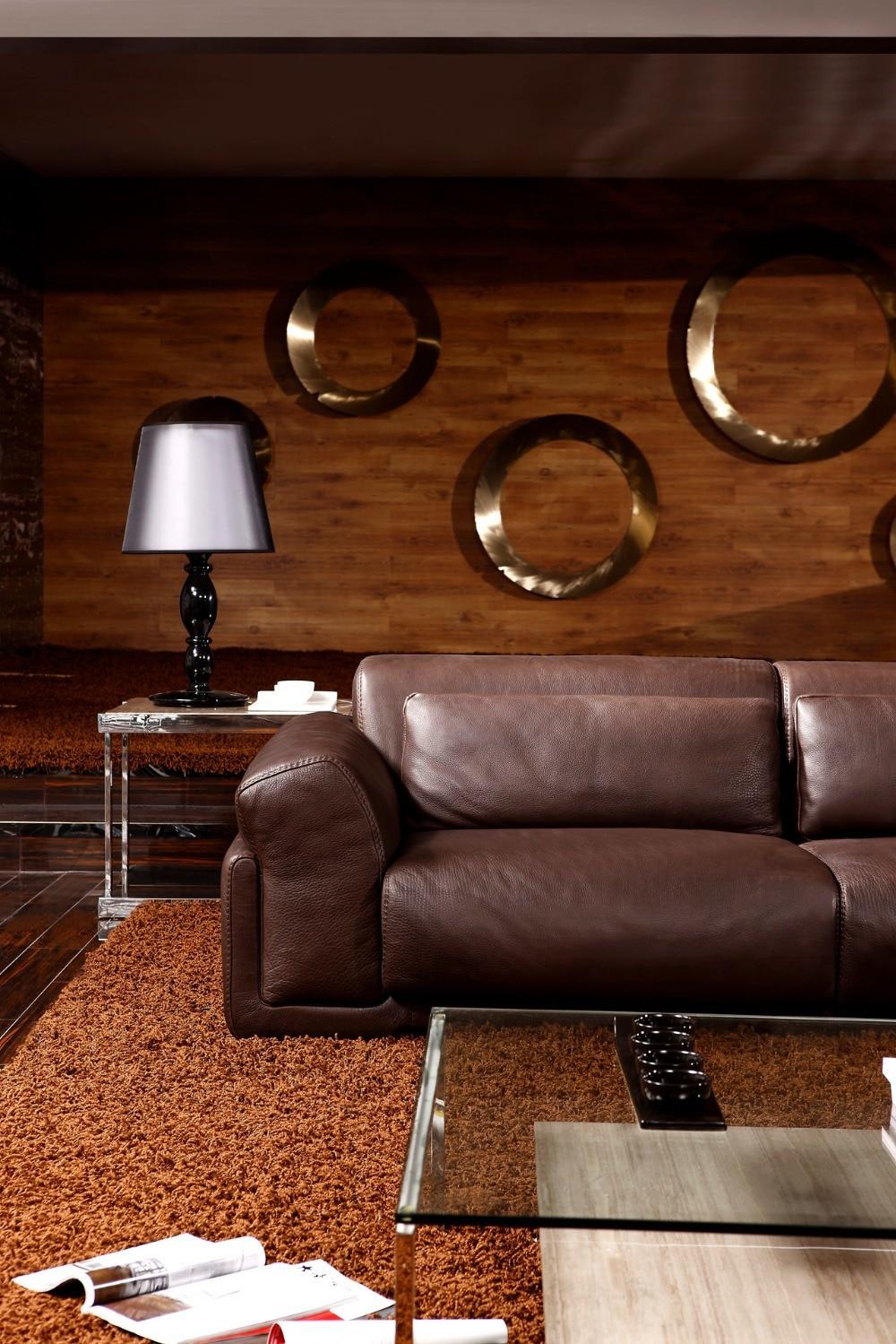 8256 # Dnevna soba Usnjeni kavči set iz perja / Luksuzni usnjeni - Pohištvo - Fotografija 4