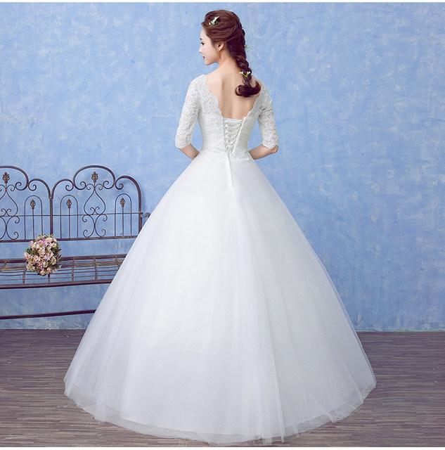 Online Shop Beauty-Emily 2018 Princess Bride Simple White Wedding ...
