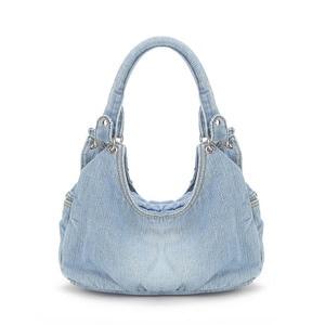 Image 3 - IPinee نساء موضة الدينيم حقائب حلوة عالية الجودة حقائب مع الماس السيدات حمل حقيبة حقيبة ساع