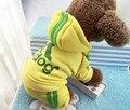 Venta caliente 4 piernas ropa Para Perros, mascotas abrigos, suéter ropa del invierno del perro de perrito con capucha Adidog trajes de tamaño XS-XXL 6 colores