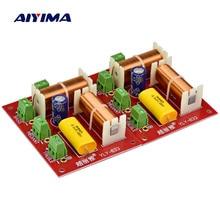 AIYIMA 2Pcs 200W אודיו רמקול מחלק תדר 3 דרך מוצלב טרבל בינוני בס עצמאי Crossover רמקולים מסנן DIY
