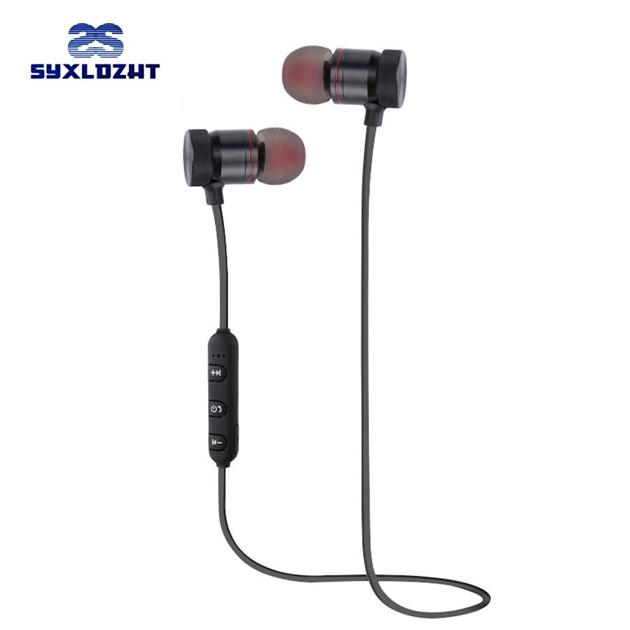 Single Wireless Bluetooth Earphones Noise Cancelling Business Hf Zipper Universal Earphone Syxldzht With Mic Sport Bass Headphones Stereo Auriculares Headset Earbuds