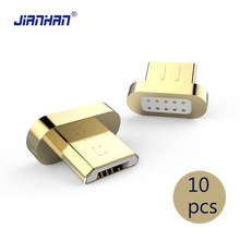 10 pcs Magnetic Flat Micro Usb Charging Cable USB Connector Adapter for Charger Accessories For Samsung Xiaomi Lenovo