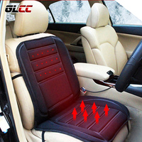 GLCC Universal Electric Heated Car Seat Cushion Car Accessories Interior Winter Warm Automobiles Product 12V 45W