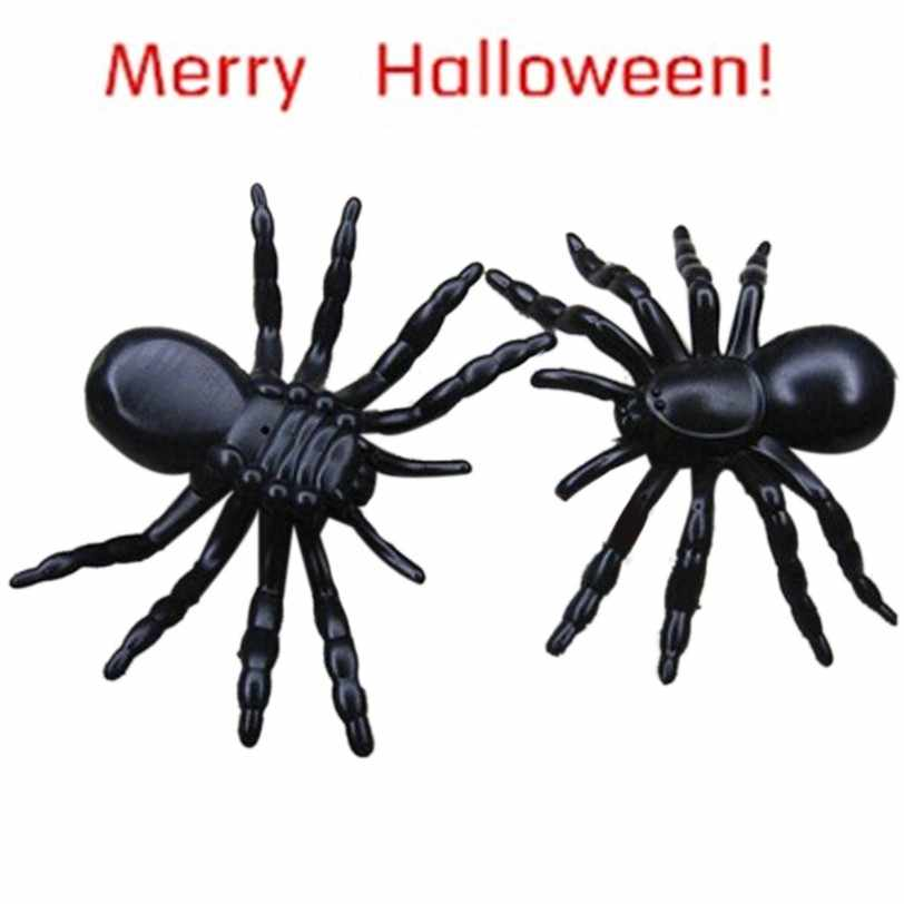 Best Seller drop ship Halloween surprising gadget Plastic Realistic Black Spider Joking slime Toys for kids or decoration Jan 17