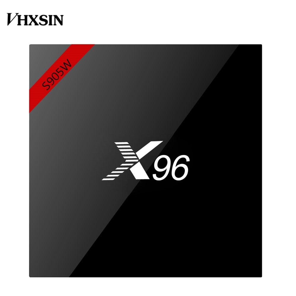 VHXSIN 5PCS LOT X96W Smart tv box android 7 1 2GB RAM 16GB ROM Amlogic S905W
