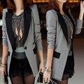 Marca otoño primavera de manga larga señoras de la oficina ol blazers para las mujeres más el tamaño s/m/l/xl/xxl/xxxl rosa/negro/gris/azul/orange