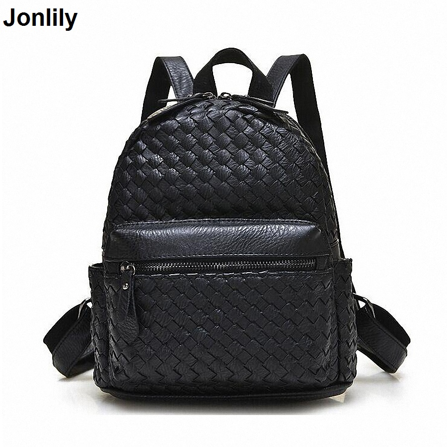 Weave Backpack Women Genuine Leather Bag Women Bag Cow Leather Women Backpack Mochila Feminina School Bags For Teenagers LI-1390 fashion women leather backpack rucksack travel school bag shoulder bags satchel girls mochila feminina school bags for teenagers