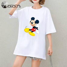 Summer Clothes Women Casual Mickey Mouse Cartoon Tops Tshirt Short Sleeve Tees Big Plus Size T Shirts Wear