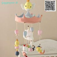 1set Gagqeuywe 2017 New April Du 2017 Diy baby bed bells material Diy funny toy Stimulate hands on ability not finished product