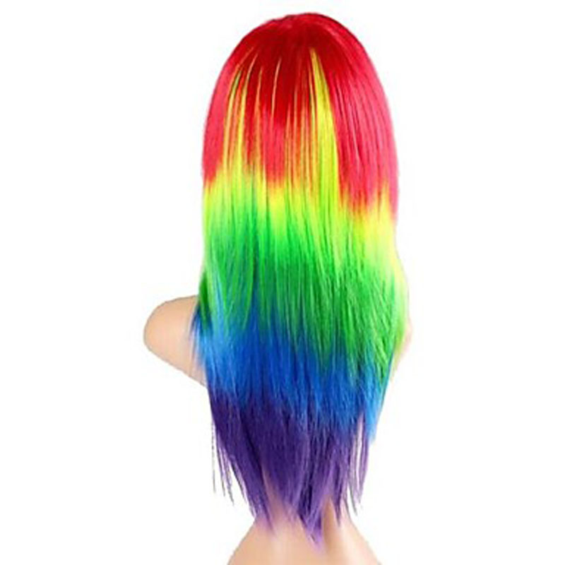 Image 4 - HAIRJOY  Synthetic Hair Womens Cosplay My Little Pony Rainbow Dash Multi Color Heat Resistant Party Wig Free Shippingwigs freewigs free shippingwig wig -