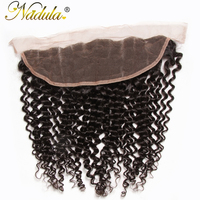 Nadula Hair 10 20INCH Free Part Malaysian Curly Hair Closure Piece 13x4 Lace Frontal Remy Hair