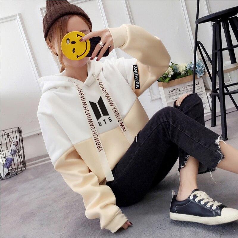 5683c92b color 10 Hoodies Women Boys Sweatshirt EXOWinter Clothes Women Plus Size  Kpop Hoodie Pullover Streatwear Coat Tops Bts