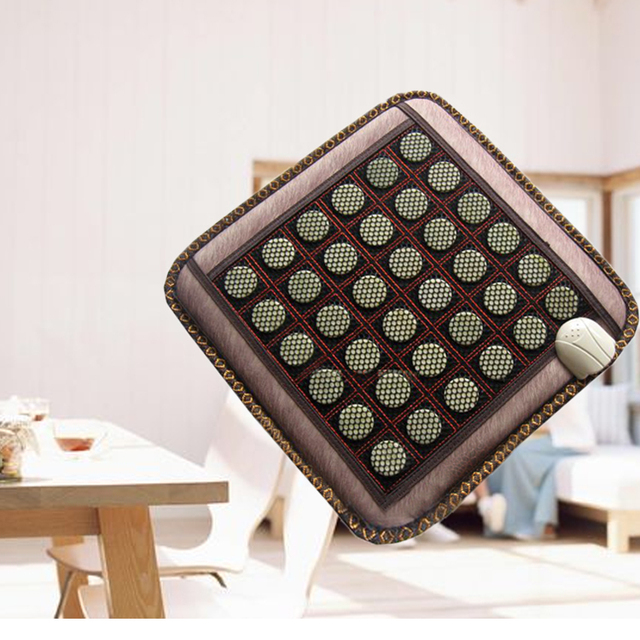 New Arrival NEW Natural Jade Tourmaline Stones Infrared Heating Mat  Fit for Men and Women