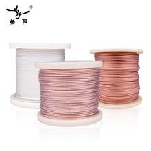 YYAUDIO Headphone cable Teflon Silver OCC Wire 6N Cable For Hifi Headphone Earphone Headset Speaker DIY Upgrade Headphone cable