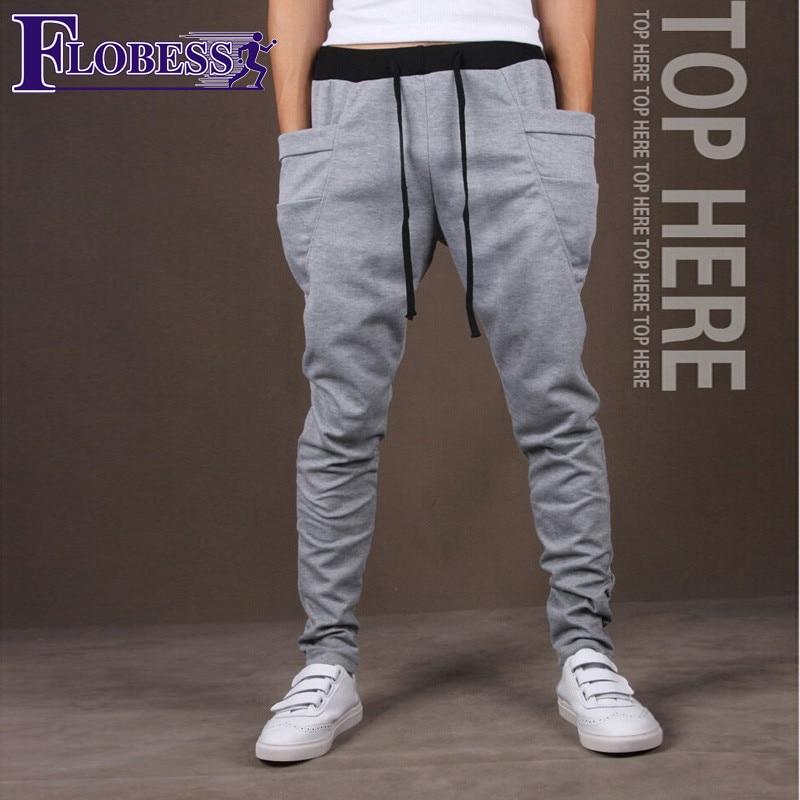 FLOBESS 2018 Men Big Pockets Decoration Leisure Jogger Sports Pants Mens Running Slim Workout Hip Hop Long Pants