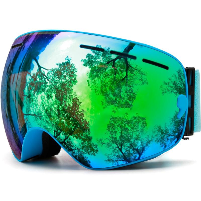 OTG Ski Goggles,Frameless Glasses Skiing Snowboarding Snow Goggles for Men,Ski Mask 100%UV Protection Interchangeable Dual Lens ski go мазь держания ski go lf