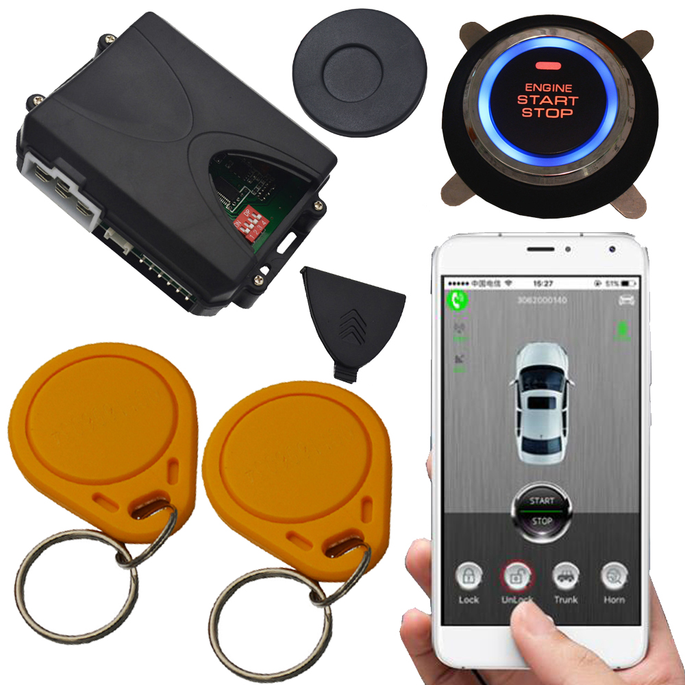 sim card invisible car security alarm passive keyless entry arm or disarm car engine start stop button gps tracking system car pke smart car alarm system is with passive auto lock or unlock car door keyless go push button start stop remote start stop
