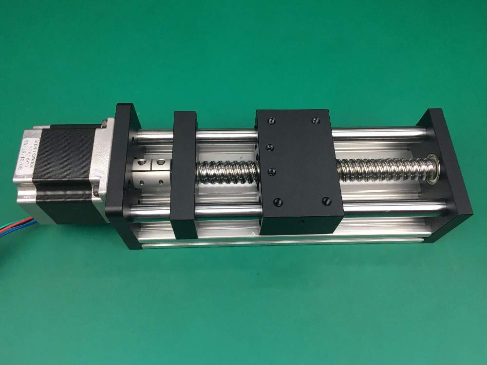 все цены на GGP 1204 400mm ball screw Sliding Table effective stroke  Guide Rail XYZ axis Linear motion+1pc nema 23 stepper motor онлайн