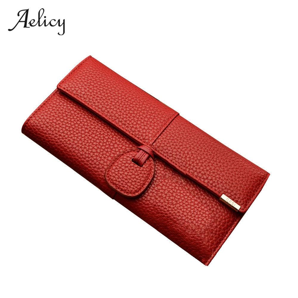 817ab8bfe919 Aelicy 2019 Новый Модный женский кошелек леди мульти-карта большой емкости  Пряжка длинный бумажник портмоне