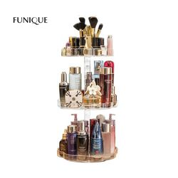 FUNIQUE Acrylic Cosmetic Storage Boxes Rack Makeup Organizer Jewelry Boxes Women Bedroom Shelf Home Decoration Accessories