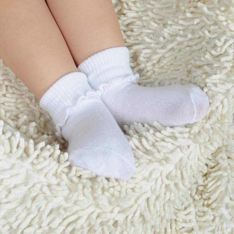 Kids Socks Baby Boys Socks 6Pair/Lot 100% Cotton White Socks Baby Girls Sock
