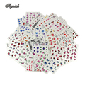 Tignish 50 Sheets/Lot Mixed Flower Water Transfer Nail Stickers Decals Art Tips Decoration Manicure Stickers Ongles Tools