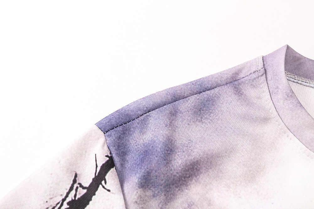 Новинка 2017 года поступления мужские 3d футболка принт Зимний лес деревья быстросохнущая летние футболки брендовые футболки плюс размеры