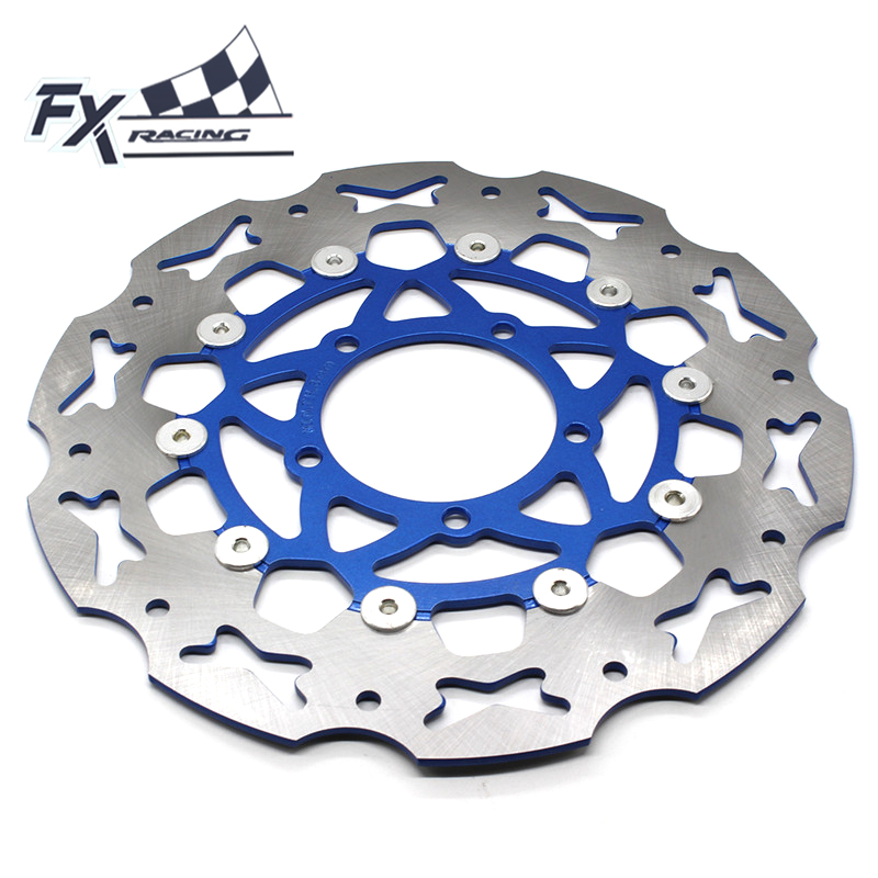FX Aluminum+Stainless Steel Motorcycle 300mm Floating Front Brake Disc Rotor For Yamaha FZ16 2013 - 2016 Moto FZ16 Accessories keoghs adelin motorcycle brake disc floating 220mm disc cnc aluminum alloy stainless steel for yamaha scooter modified
