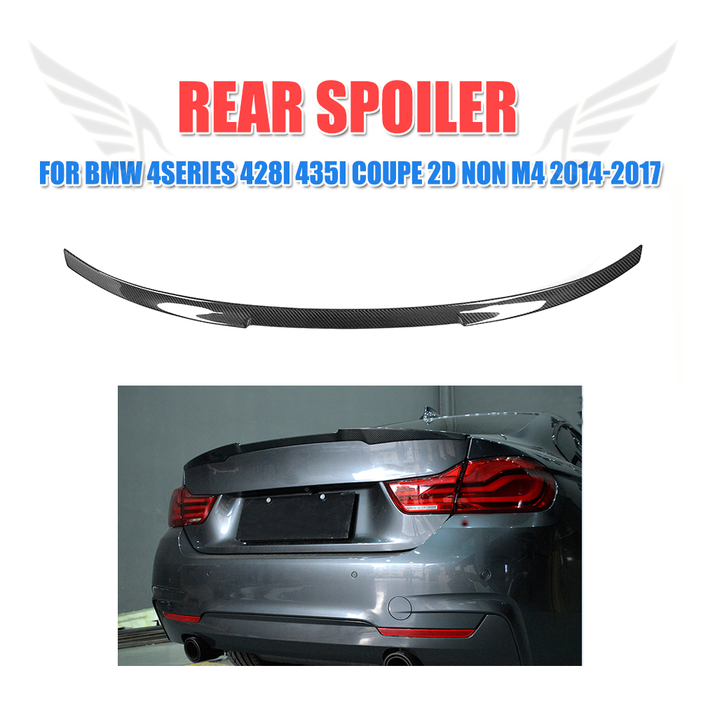 все цены на Carbon Fiber/FRP Unpainted Rear Spoiler Trunk Boot Wing for BMW 4 Series F32 428i 435i Coupe 2D Standard M Sport Non M4 14-17 онлайн