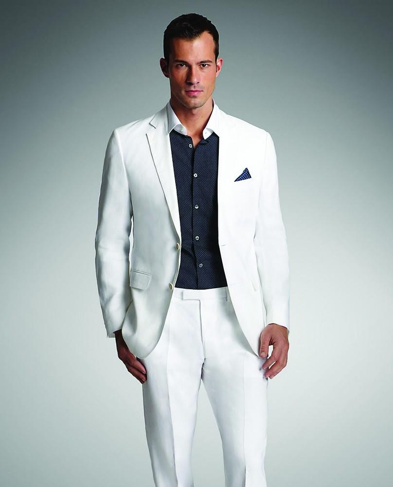 Mens Suits With Pants Tuxedo Satin Blazer Two Notched Lapel Grooms ...