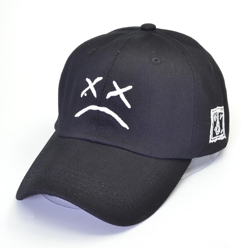 LIL PEEP Sad Face Baseball Cap Men Women Hip-Hop Cotton Adjustable Trucker Hats