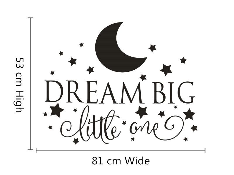 Big And Little Quotes Dream Big Little One Quotes Wall Decal Nursery Wall Sticker Baby .