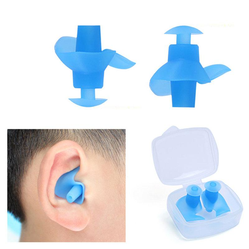 Mounchain 1 Pair Silicone Waterproof Dust-Proof Earplugs For Adult Swimmers Children Water Sports Swimming Accessories