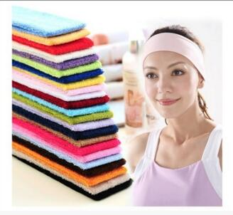 1000pcs fedex/dhl fast Headwrap Sports Biker HeadBand Wrist Band Hair Sweatband Hair Band for Men Women Girls Accessories