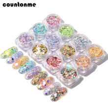 1 box Mix Shape Nail Glitter Sequin Flakes Holographic Spang