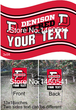 Denison Big Red Your Text Flag 3ft x 5ft Polyester NCAA Garden Flag 13inx18in QingQing Flag Super Fan