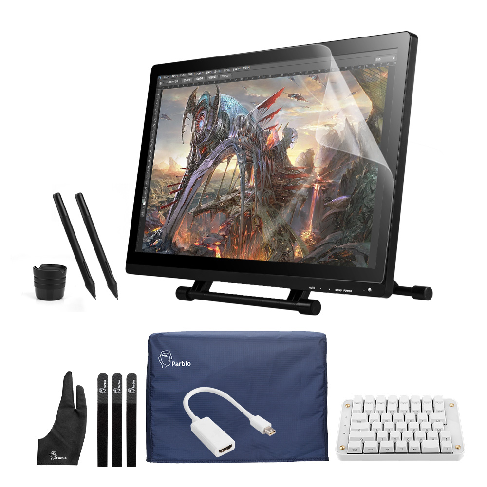 Professional UG-2150 IPS HD Tablet Monitor+Parblo PR200w one-hand Mechanical Gaming Keyboard+Two-Finger Glove +Screen Protector buy gaming monitor
