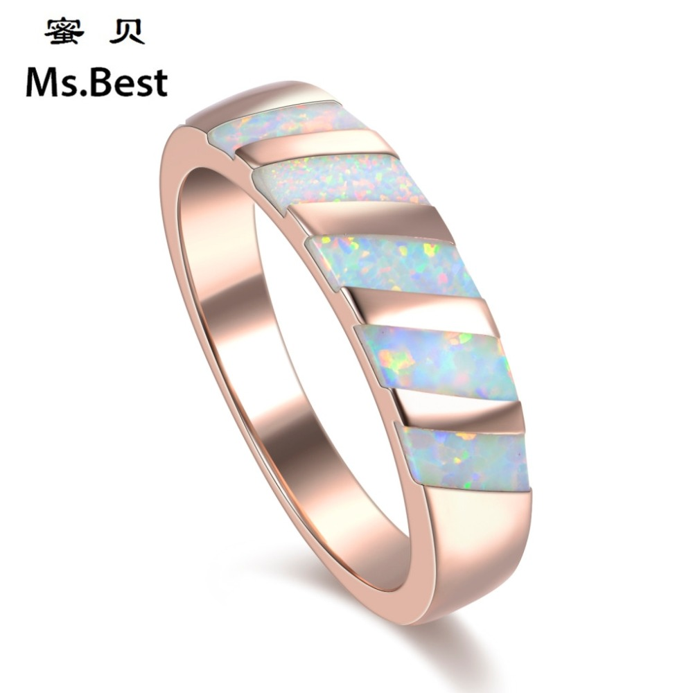 Fine Yellow Gold Color Opal Natural Stone Engagement Rings For Women Boho  Dubai Fashion Jewelry 2017
