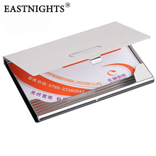 5pcs/lot wholesaleFree shipping, Factory Sale Stainless Steel metal Name Card Case Business Holder Promotion Gift  NMS010