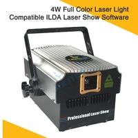 4W Laser Light Compatible ILDA Laser Show Software Dmx Dj Laser Disco Club Home Party Full Color Lighting