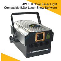 4W Laser Light Compatible ILDA Laser Show Software Dmx Dj Laser Disco Club Home Party Full Color Lighting