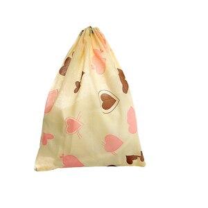 Image 5 - 1 個防水不織布コンテナオーガナイザー靴布収納袋旅行巾着バッグ布下着靴バッグ