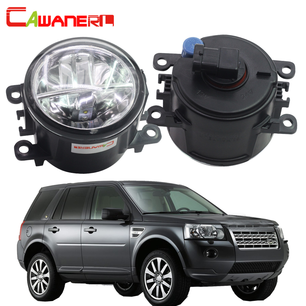 Cawanerl Car LED Fog Light DRL Daytime Running Light 12V For Land Rover Freelander 2 LR2 FA_ Closed Off-Road Vehicle 2006-2014 car styling 2 in 1 led angel eyes drl daytime running lights cut line lens fog lamp for land rover freelander lr2 2007 2014