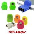 Robot Micro USB To USB OTG Adapter for All Android Smartphone Connector Converter Tablet Pc To Flash Mouse Keyboard