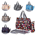 new style  Elegant Print Baby Diaper Bag Urban Series Fashion Multifunctional Diaper Changing Bag Mommy Bag Waterproof Nappy Bag