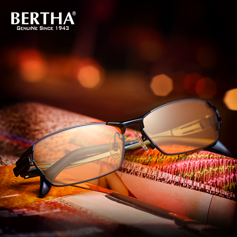Bertha Pure Titanium Rimless Sunglasses Polarized Photochromic Sunglasses For Mens Classic UV protection UV400 1190 polarized glare guard tac alloy frame sunglasses with uv400 uv protection