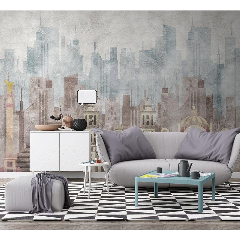 Carta Da Parati Living Walls.Modern Wall Paper Geometric Architecture Photo Wallpaper Mural Carta Da Parati 3d Living Room Self Adhesive Vinyl Silk Wallpaper Wallpapers Aliexpress